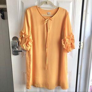 Cremieux yellow polyester women's dress size L